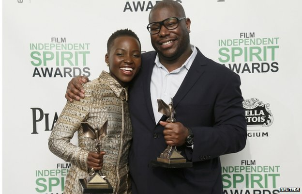 BBC News – 12 Years a Slave actress Lupita Nyong'o wins Independent Spirit Award