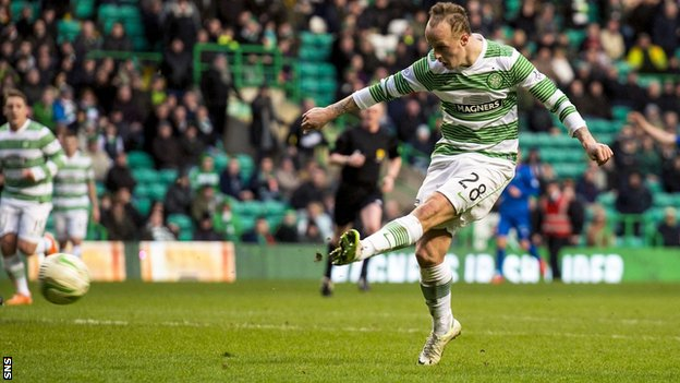 Leigh Griffiths scores for Celtic against Inverness