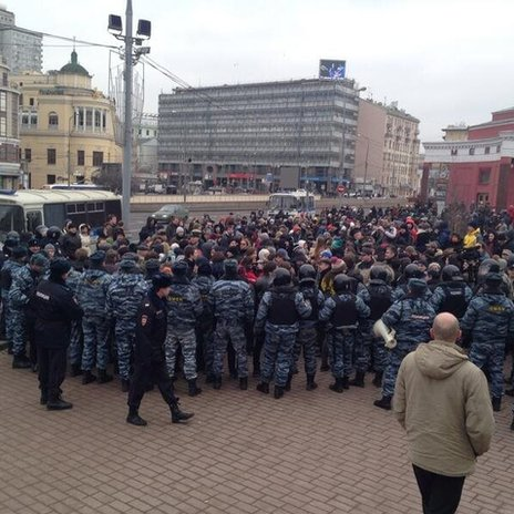 Anti-war protest in Moscow (2 March 2014)