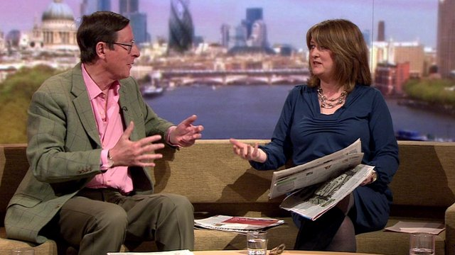 Former Home Secretary Jacqui Smith and journalist Max Hastings
