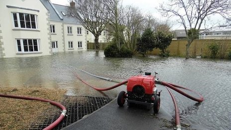 Flooded property