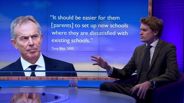 Tristram Hunt with Tony Blair graphic