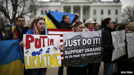 Pro-Ukraine rally in Washington (1 March 2014)
