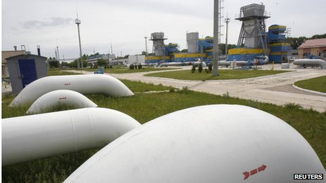 Gas storage facility in the village of Mryn, north of Kiev (21 May 2013)
