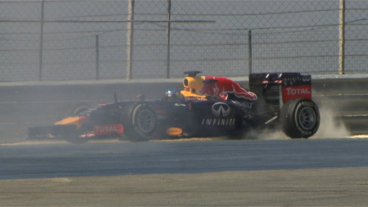 Red Bull's Sebastian Vettel spins out in Bahrain F1 test