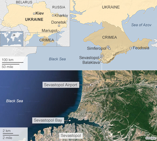 Map of the Crimea peninsula