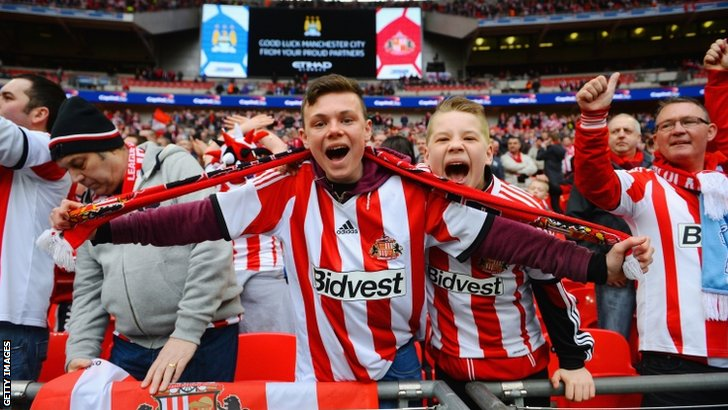 Sunderland fans at Wembley
