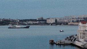 Navy ship in Sevastopol (2 March 2014)
