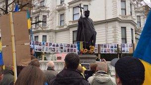 Pro-Ukraine rally in London (2 March 2014)