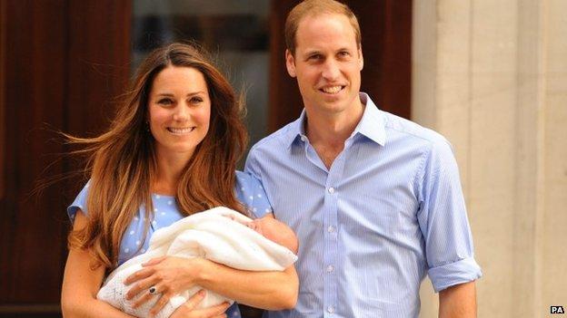 Prince George leaving hospital