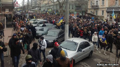 Pro-Kiev protest in Odessa (photo: Nikolas Holmov), 2 March