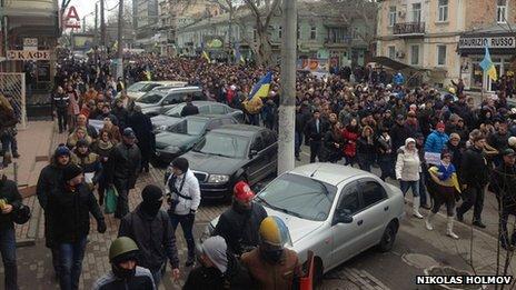 Pro-Kiev protest in Odessa (photo: Nikolas Holmov), 2 March