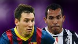 Lionel Messi and Carlos TEvez