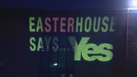 Easterhouse says Yes projection
