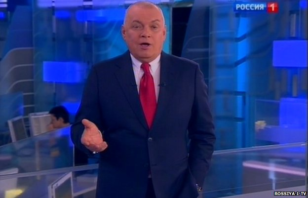 Russian TV anchor Dmitry Kiselev