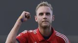 Stuart Broad celebrates England win v West Indies