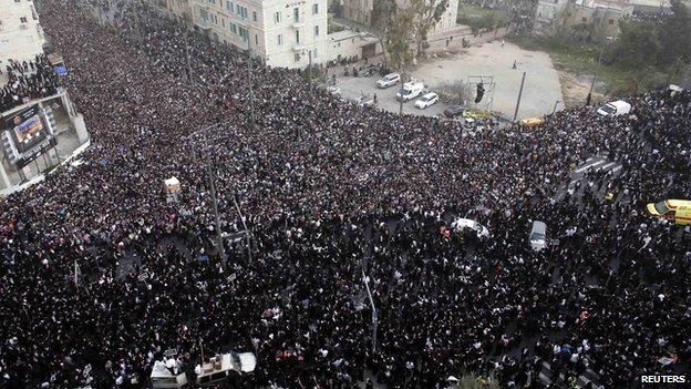 Ultra-Orthodox Jews protest in Jerusalem 2 March