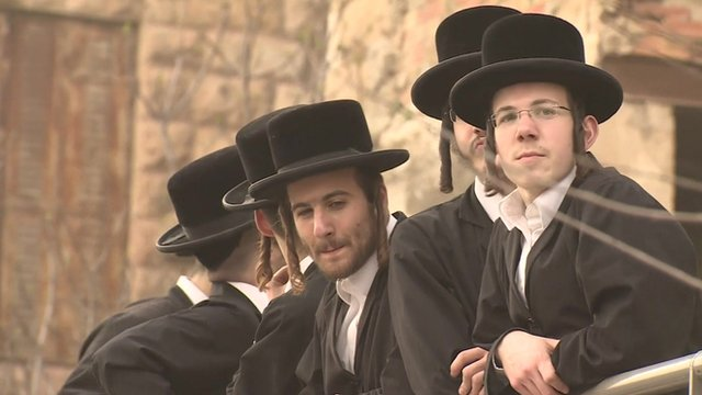 Ultra-Orthodox Jews protest in Israel