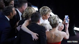 Ellen's selfie photo