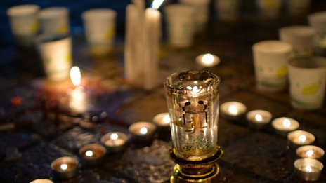 Many Chinese are holding vigils to mourn the victims