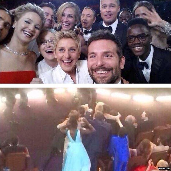Liza Minelli's selfie moment