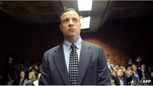 Oscar Pistorius in court on a previous occasion