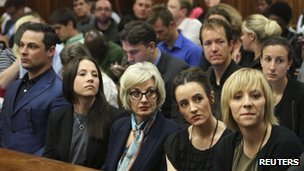 Pistorius family members sit in court