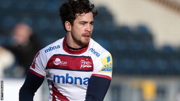 Danny Cipriani on the attack against Wasps