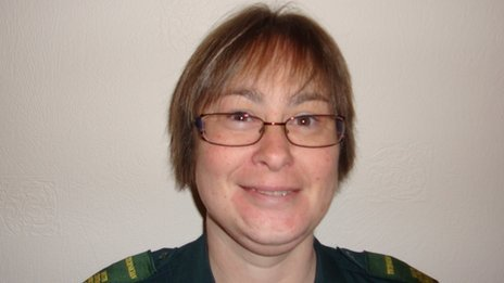 Ambulance technician Gillian Randall