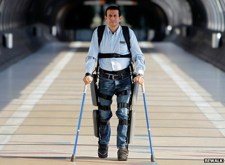 The ReWalk exoskeleton is designed to enable those with lower limb disabilities to walk upright with the aid of crutches