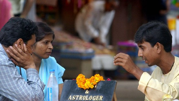 Astrologer and two clients