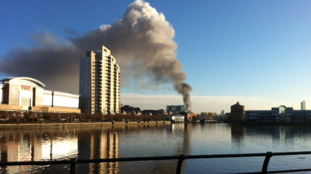 Salford recycling fire