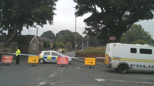 Police cordon on Middleton Lane