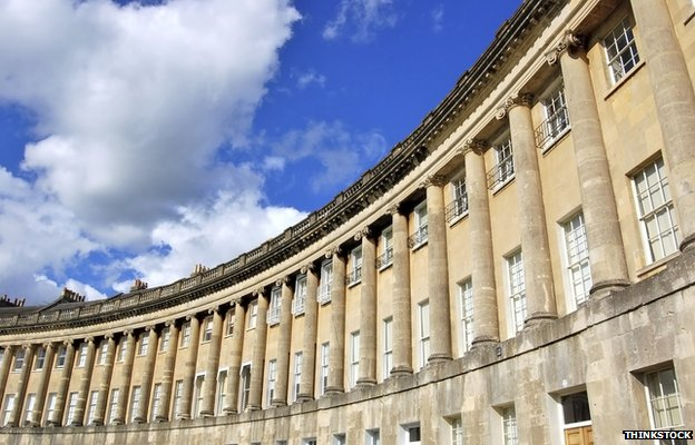 Bath stone buildings -