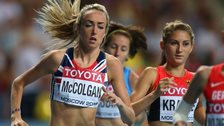 Eilish McColgan in action for GB & NI