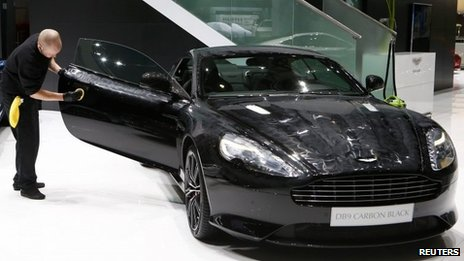 Aston Martin DB9 Coupe Carbon Black edition on display at Geneva