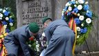Soldiers lay a wreath at the Jewish Cemetery in Weissensee, Berlin in November 2012