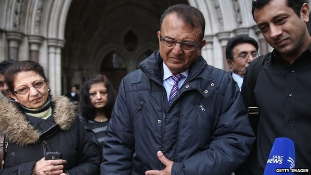 Relatives of Anni Dewani, including her father Vinod Hindocha
