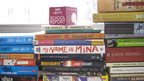 BBC mic cube on a pile of books