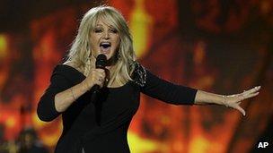 Bonnie Tyler at Eurovision 2013