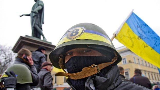 Protestor in Odessa