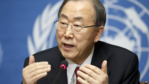 Ban Ki-moon in Geneva