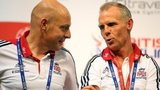 GB cycling chief Sir Dave Brailsford and head coach Shane Sutton
