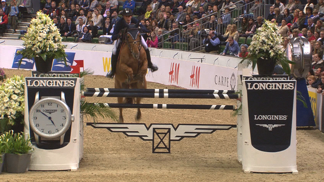 Belgium's Nicola Philippaerts wins his first F EI World Cup jumping event