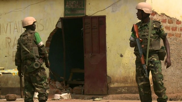 Peacekeepers on duty in the Central African Republic