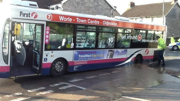 Bus down hole in Weston