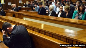 South African Paralympic athlete Oscar Pistorius in court