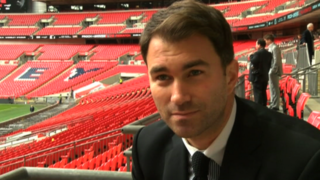 Boxing promoter Eddie Hearn at Wembley