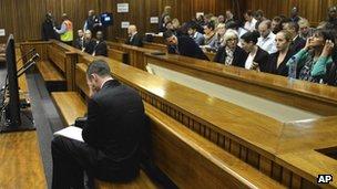 Mr Pistorius in court