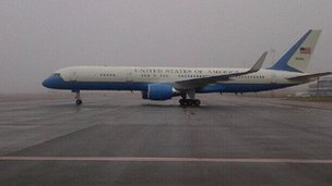 John Kerry arriving in Kiev
